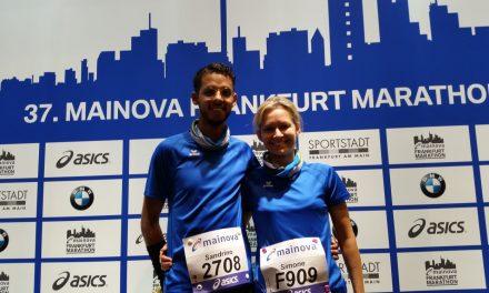 Simone Gänshirt und Sandrino Gänshirt erfolgreich beim Frankfurt Marathon